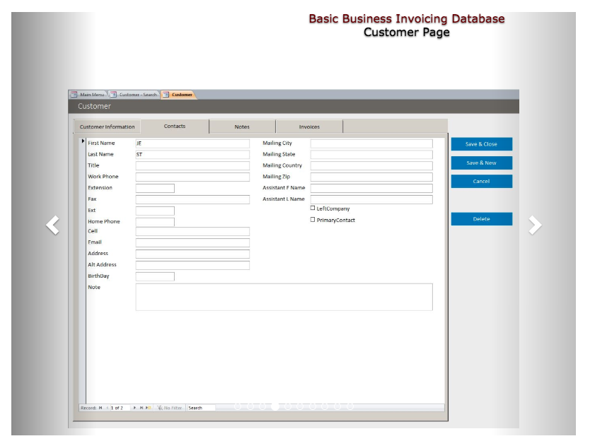 Microsoft Access databases examples for common business needs -