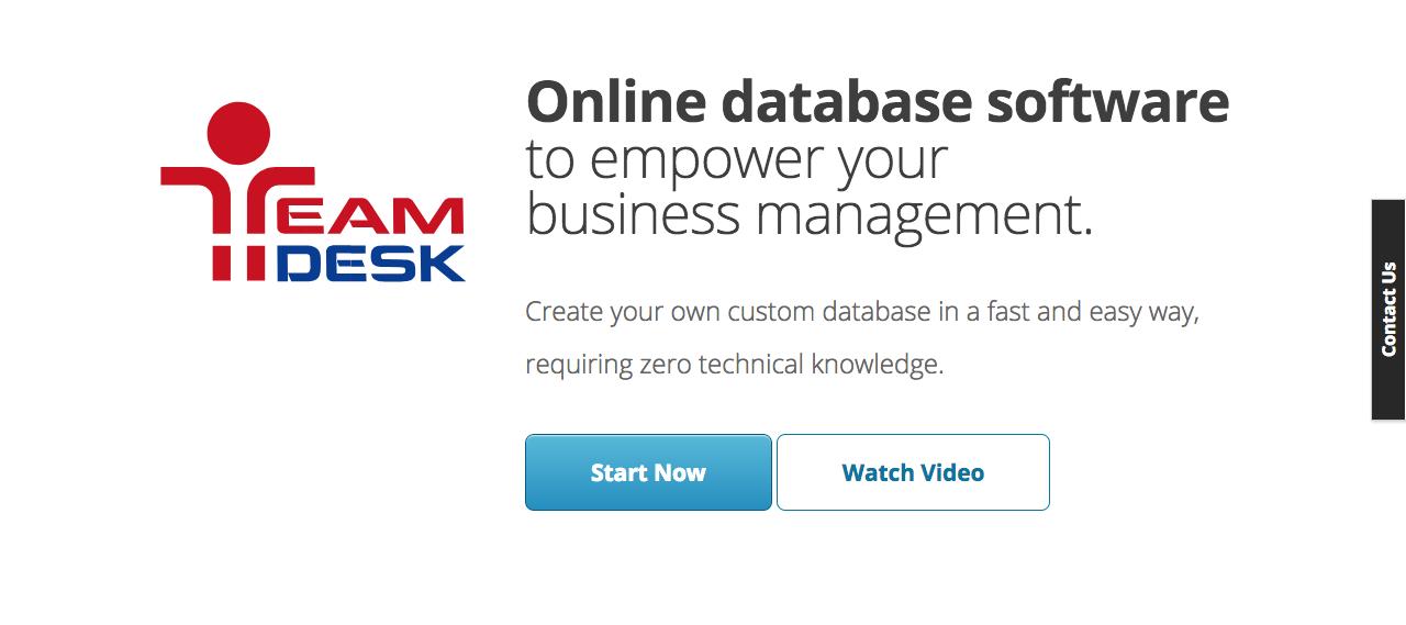 TeamDesk online database software