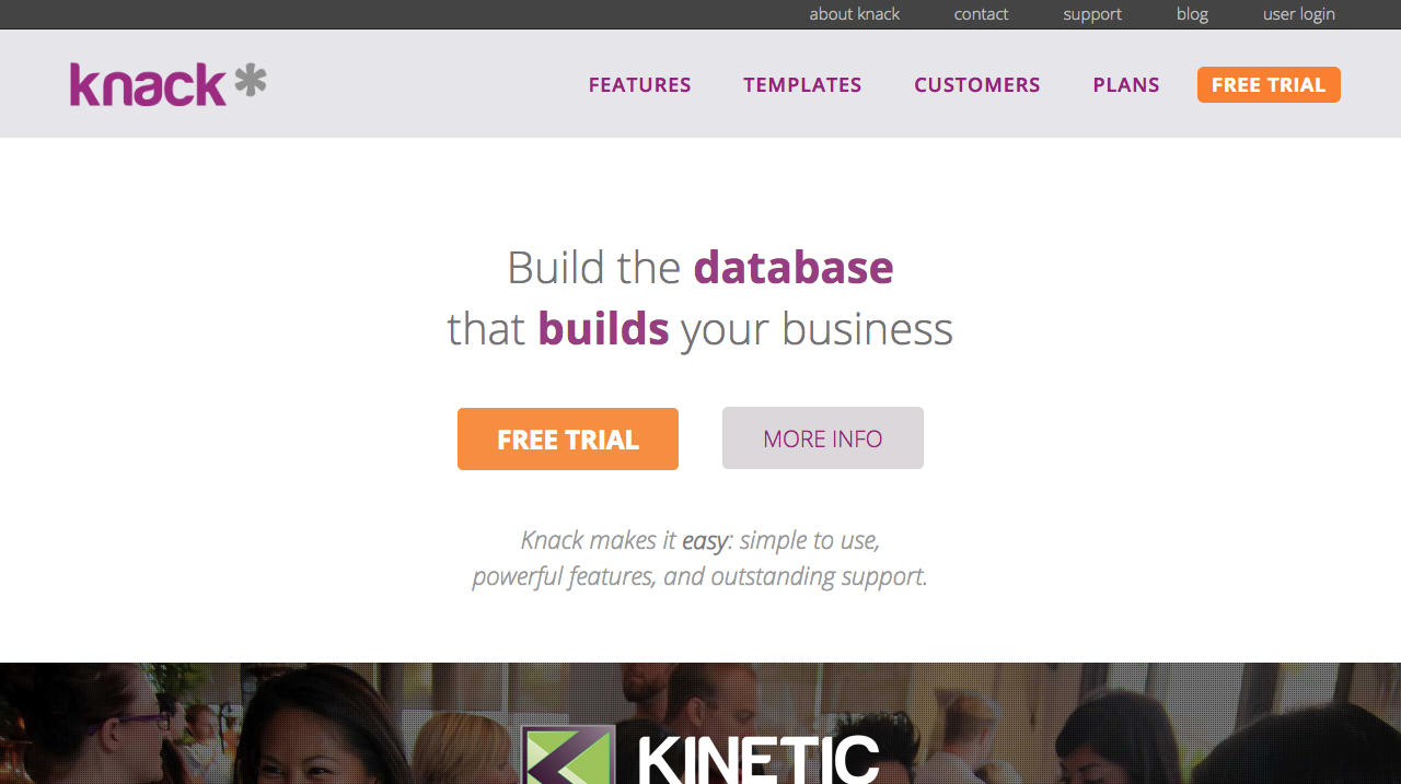 Knack online database creator