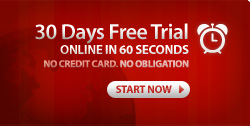30 days free trial - online in 60 seconds
