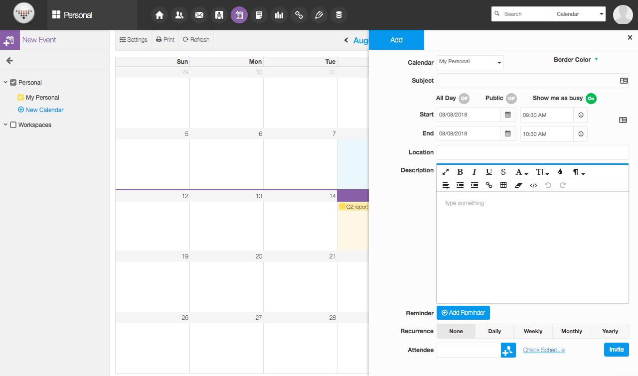 Online Shared Calendar Group Calendar Scheduling Meetings