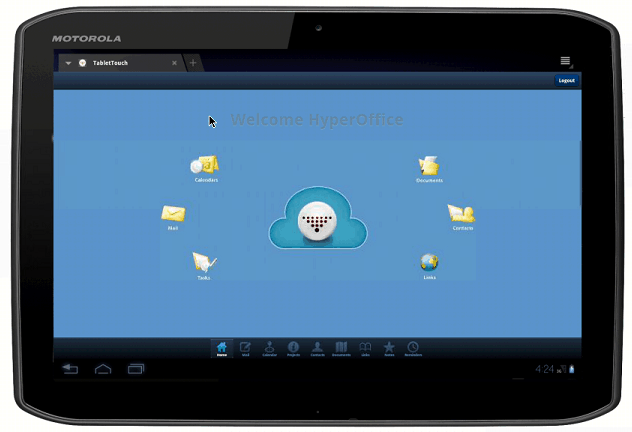 how to set home page on android tablet
