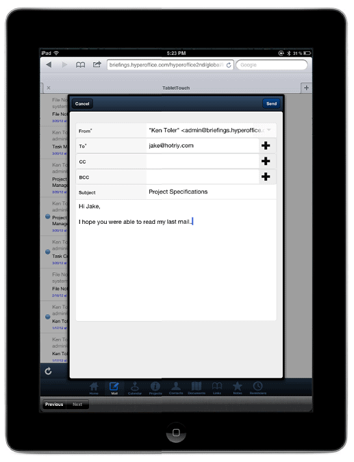 how to send email to all contacts on ipad