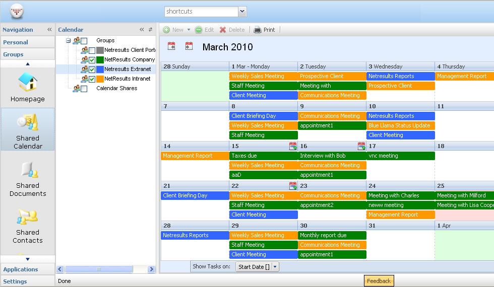Online Shared Calendar Group Calendar Scheduling Meetings