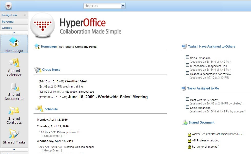 HyperOffice Offers Mature Competitor to Google and Microsoft