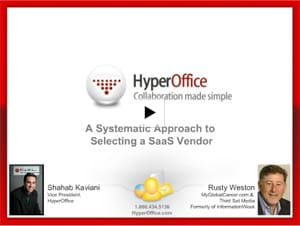 Slideshow on Selecting a SaaS Vendor